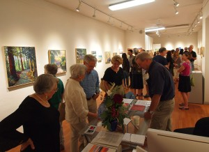 "Crowded gallery at the opening of the September show, ""Turning Points"""