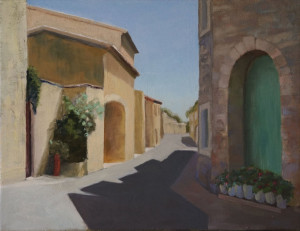 "#5 Rue de la ForgeSt. Dionisy, Franceoil on canvas, 14x18"" $450"