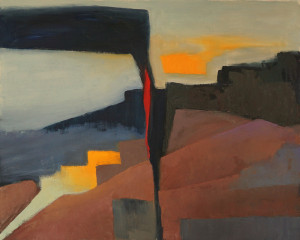 """Color Explorations #816x20"""", oil on unstretched canvas"""