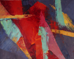 """Color Explorations #1916x20"""", oil on unstretched canvas"""