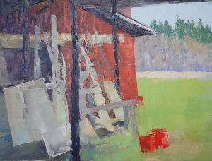 Belle Canto Farm Shed, 12x12, oil on canvas, $400